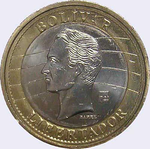 Coin Republica de Venezuela 1 Bolivar 2007 bi-Metallic Circulated