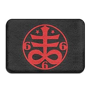 jfd fangbanger Satanic ocultista Cruz símbolo Casa Antideslizante (60x 40cm