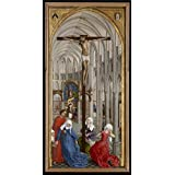 Canvas Prints Of Oil Painting ' Rogier Van Der Weyden,Triptych Of The Seven Sacraments M,ca.1399-1464 ' , 24 x 47 inch / 61 x 120 cm , Polyster Canvas, Home Office, Home Theater And Kitchen Decoration