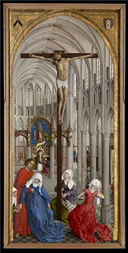 Dart Vii Leather - Oil Painting 'Rogier Van Der Weyden,Triptych Of The Seven Sacraments M,ca.1399-1464', 30 x 59 inch / 76 x 150 cm , on High Definition HD canvas prints, Home Office, Home Theater And Kitchen Decoration