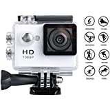 Goldwangwang 1080P Full HD 2.0 inch LCD Screen Waterproof Sports Action Camera Cam DV 5MP DVR Helmet Camera Sports DV Camcorder, White