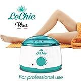 LeChic - Wax Warmer Hair Removal - Wax Kit - 5 Bags of Hard Wax Beans & 30 Wax Applicator Sticks - Waxing Kit - Step by Step Guide - Wax Beads - Hard Wax - Painlessly Remove Hair From Bikini Arm Legs