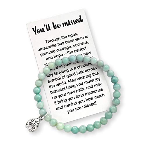 Coworker Leaving Gift for Women – Farewell Bracelet with Message Card & Gift Box