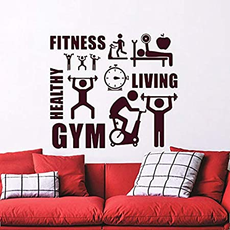 jiuyaomai Fitness Gym Healthy Sports Pegatinas de Pared Decoración ...