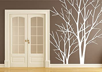 Large White Tree Trunk Decal Tree Branch Wall Decals Vinyl Birch Tree Trunk  for Living Room