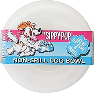 product image for Sippy Pup No Spill Dogs Bowl for Cats Too (Clear)