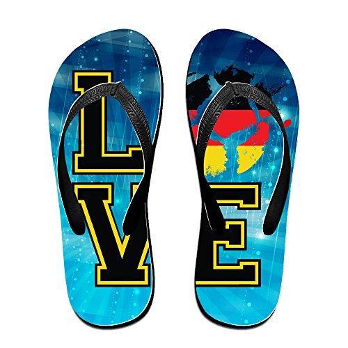 Shehe Love Germany Football Team Unisex Fashion Beach Flip-flops Thong Size L - Ireland Kors Michael