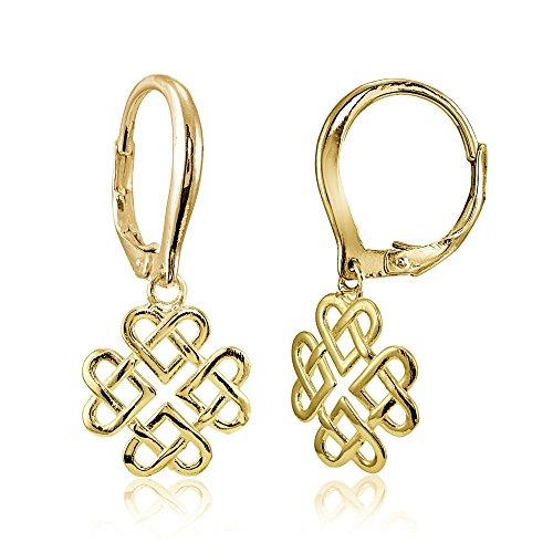 Yellow Gold Celtic Love Knots - 6