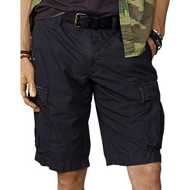 6b1b8ab7df2 Ralph Lauren Denim & Supply Men's Chino Cargo Shorts, Black (42 ...
