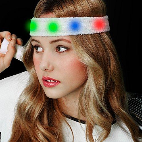 Fun Central AJ296 LED Light Up Sweat Headband - (Led Headband)