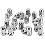 YITAMOTOR 24 Chrome Bulge Acorn Wheel Lug Nuts 1/2-20 Compatible for Dodge Durango & Dakota 6-Lug (24pcs)