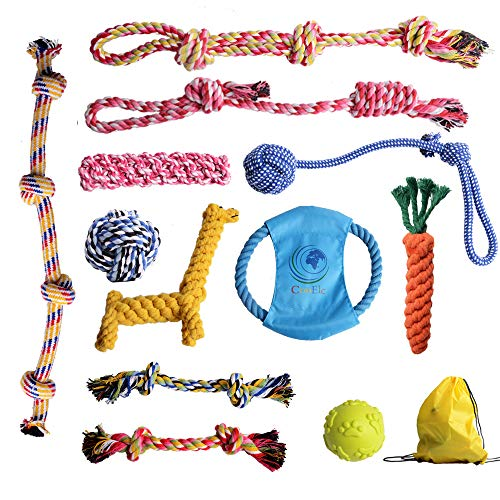 Dog Rope Toys EylbKey Dog Toy for Small to Medium Dogs,Puppy and Pets – as Cotton Chewers for Dog Toys – Dog Teething…