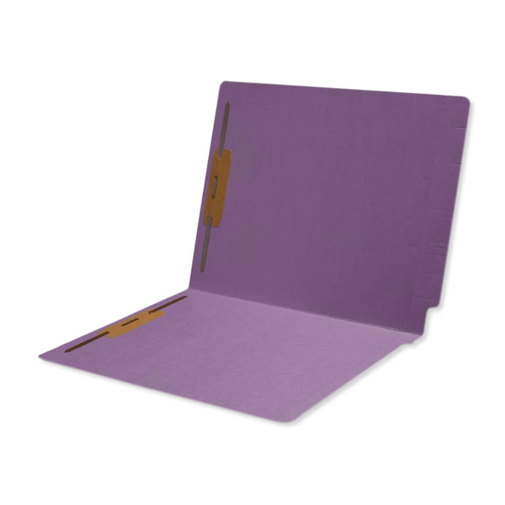 PDC Healthcare ETF514 End Tab Folder, 2-ply, Top and Side, FAS #1 and #3, 11Pt Color Stock, 9'' High Front, 12 1/4'' x 9 1/2'', Purple (Pack of 50)