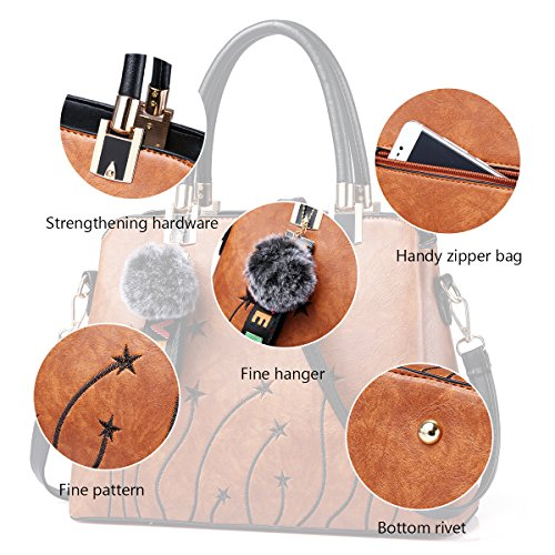 Women Purses and Handbags Top Handle Satchel Shoulder Tote Bags Fashion Leather Girls Crossbody Bag by PINCNEL (Image #6)