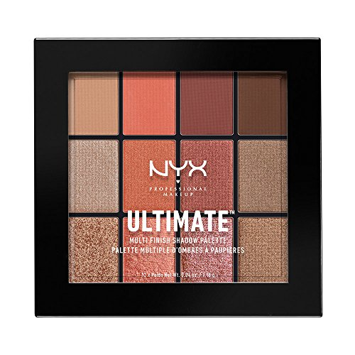 NYX PROFESSIONAL MAKEUP Ultimate Multi-Finish Shadow Palette, Warm Rust, 0.48 Ounce by NYX