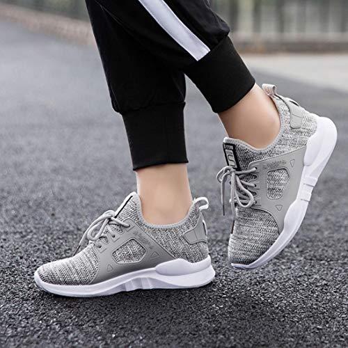 Nero Bianco 40 Sports Grigio Sneaker Allacciare Ginnastica Maglia Blu Running Da Donna Scarpe 36 Uomogo Fitness wBzH7