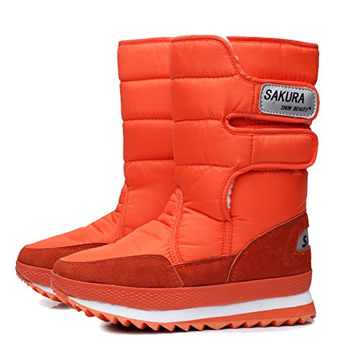 Slip Ladies Calf Boot Anti Boot Outdoor Weather E C Snow Orange Boot Waterproof Mid Legend Cold Tx0gqSwC