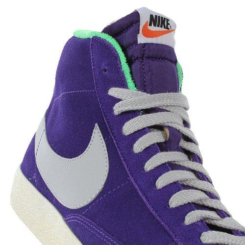 Nike Blazer Mid Premium Vintage Suede - Zapatillas tipo bota, color gris, verde y morado