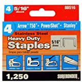 Surebonder 88516 T50 Type Stainless Steel Number-4- 55516 Heavy Duty Staple, 5/16-Inch Length
