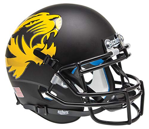 Schutt NCAA Missouri Tigers Mini Authentic XP Football Helmet, Black Alt. 1