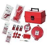 Panduit PSL-KT-MROA Maintenance Lockout Kit with Components, Red