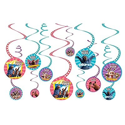 """Wonder Park"" Multicolor Swirl Party Decorations, 12 ct.: Toys & Games"
