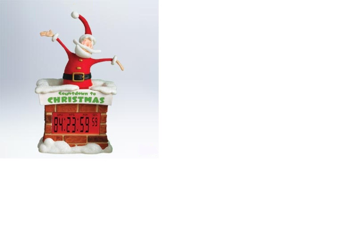 Hallmark Christmas Large Countdown To Christmas Santa Tabletop Decoration