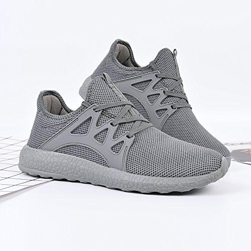 Leggeri Scarpe grigio Scarpe Ginnastica da Sneakers Confortevoli Uomo Corsa QANSI Sportivi da xF5T0Hw7q