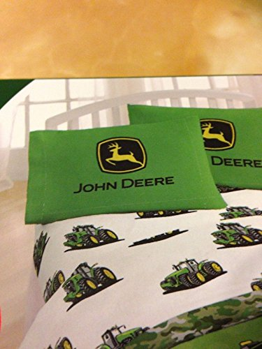 "John Deere Big Tracks 54"" x 75"" Full Sheet Set"