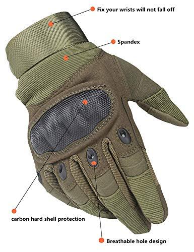 Avril Tian Gants, tactique militaire Armée en caoutchouc rigide Knuckle extérieur Full Finger Gants pour écran tactile… 4
