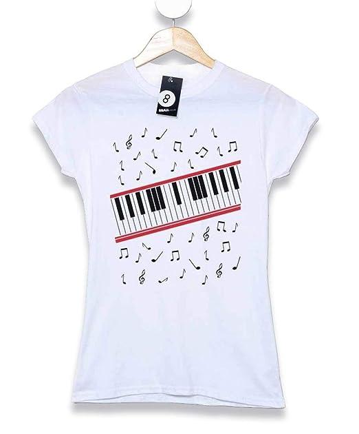 Refugeek Tees - Hombre Michael Jackson Camiseta- Beat It Piano ... 7bf7e8ce7afe4
