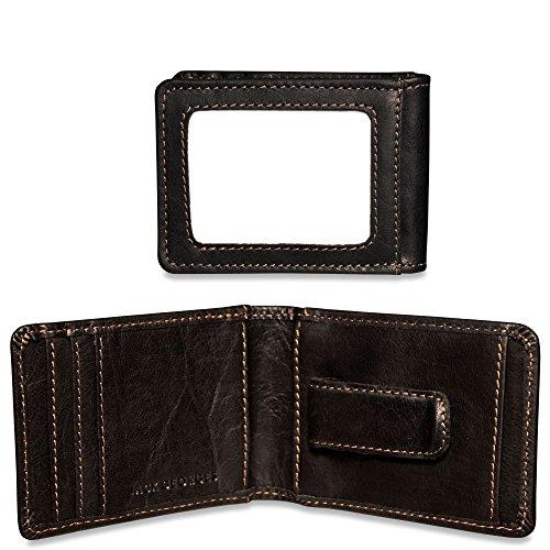 Bi Money Clip Brown Wallet Leather Voyager Fold Jack Georges w 0p8cE