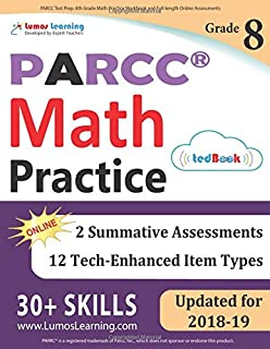 Parcc Test Prep 6th Grade Math Practice Workbook And Full Length