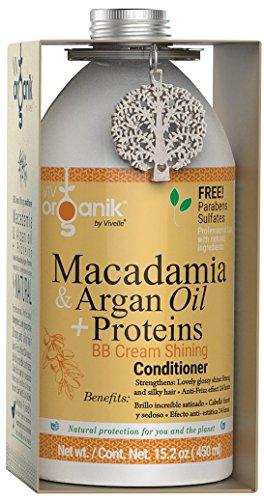 Vivorganik Acondicionador Shining con Macadamia, Aceite de Argán y Proteínas, 450 ml