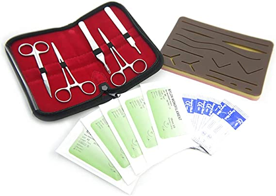 GHDE&MD Kit De Práctica De Sutura, Alta Simulación, Reutilizable, Adecuado para Entrenamiento En Cirugía Laparoscópica: Amazon.es: Deportes y aire libre