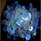 251CTS. WHOLESALE LOT NATURAL RAINBOW MOONSTONE ROUGH SPECIMEN CABOCHON GEMSTONE
