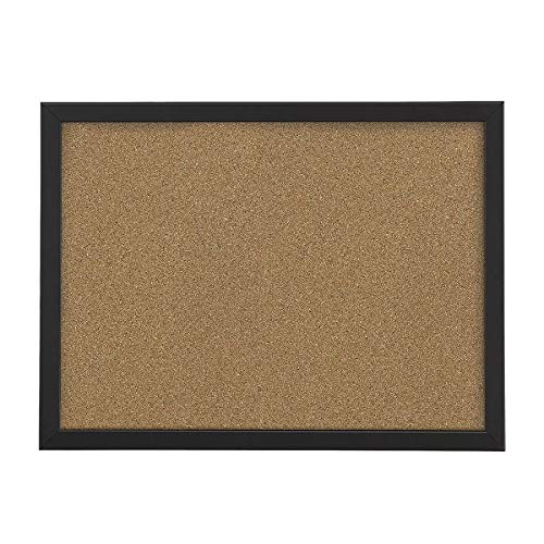 FORAY Cork Board, 24 x 36, Natural Cork, Black Décor Frame 24 x 36 Black Décor Frame