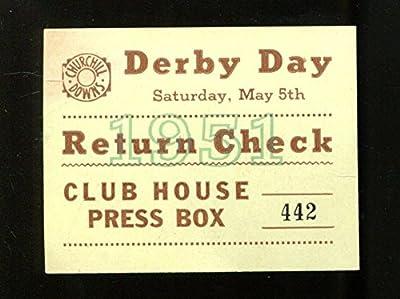 1951 Kentucky Derby Return Ticket 5/5/51 Count Turf Ex 23277