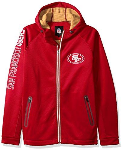 G-III Sports NFL San Francisco 49ers Motion Full Zip Hooded Jacket, 5X, Red