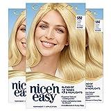 Clairol Nice'n Easy Permanent Hair Dye, SB2 Ultra Light Cool Summer Blonde Hair Color, 3 Count