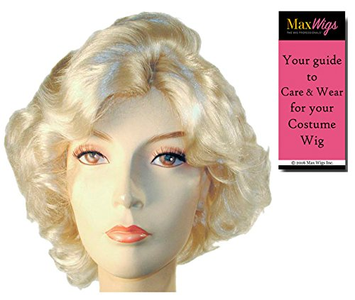 Marilyn Monroe Special Bargain - Lacey Wigs Women's Blonde Hollywood Actress Young Marylin 1950s Bundle with MaxWigs Costume Wig Care Guide -