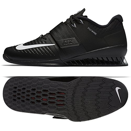 277e507d1f92 Galleon - NIKE Romaleos 3 852933-002 Black White Leather Men s  Weightlifting Shoes (11.5)