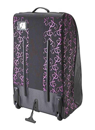 Grit Inc. DT1 Dance Tower 36'' Roller Equipment Bag, Pink on Black DT1-036-PB by Grit (Image #2)'