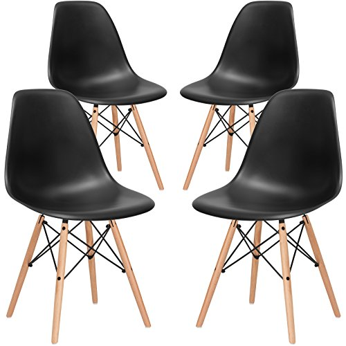 Cheap Poly and Bark Vortex Side Chair, Black, Set of 4