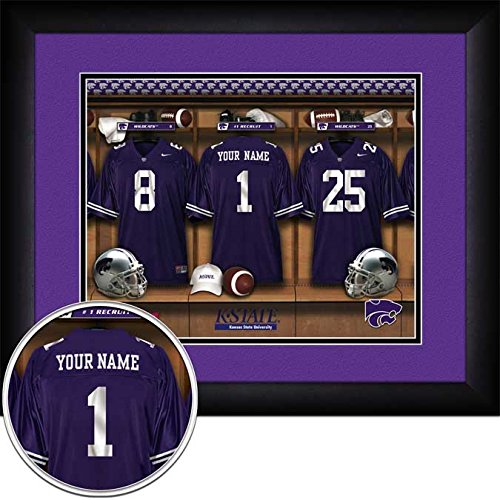 Laminated Visuals Kansas State Wildcats - Personalized Locker Room - Framed Poster ()