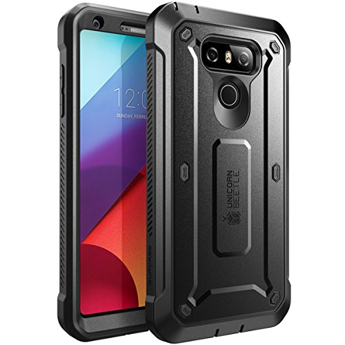 SUPCASE LG G6 Case, LG G6 Plus Case, Unicorn Beetle PRO Series Full-Body Rugged Case with Built-in Screen Protector for LG G6 Case/LG G6 Plus 2017 Release (Black) (Screen Lg Replacement E980)