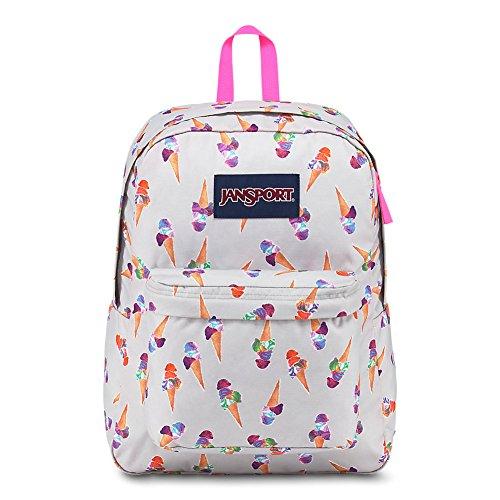 (JanSport Superbreak Backpack - Cones And Scoops - Classic, Ultralight)