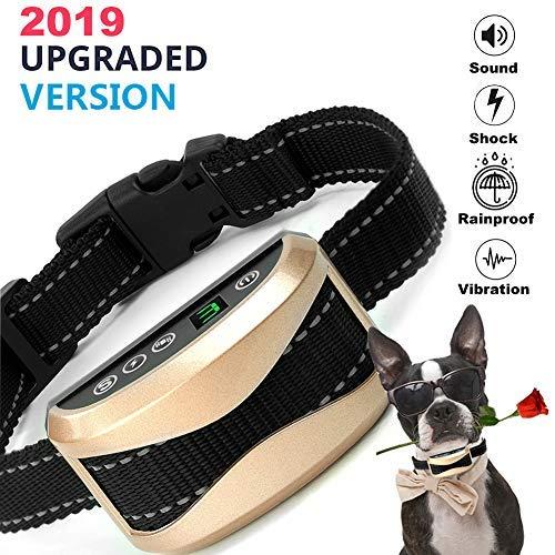 Felyong Bark Collar Dog Training Collar Rechargeable Anti-Barking Harmless Shock Safety for Small Medium Large Dog Adjustable 7 Sensitivity Beep Vibration Waterproof Training