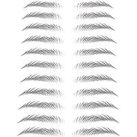 zhibeisai Women 3D Eyebrow Sticker Tattoo Eye wenkbrauw sticker Brow Waterproof Stereo Decal False Eyebrow Decoration…