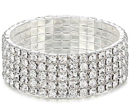 Besteel Rhinestone Elastic Bracelets Adjustable